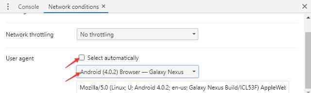 电脑浏览器修改User Agent模拟移动设备访问网站